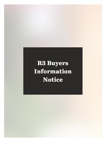 R3 Buyers Information Notice